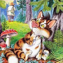 Белорусская народная сказка Котик-золотой лобик.Слушать ...