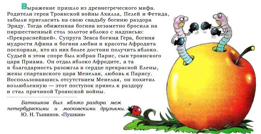 Картинки фразеологизм яблоко раздора
