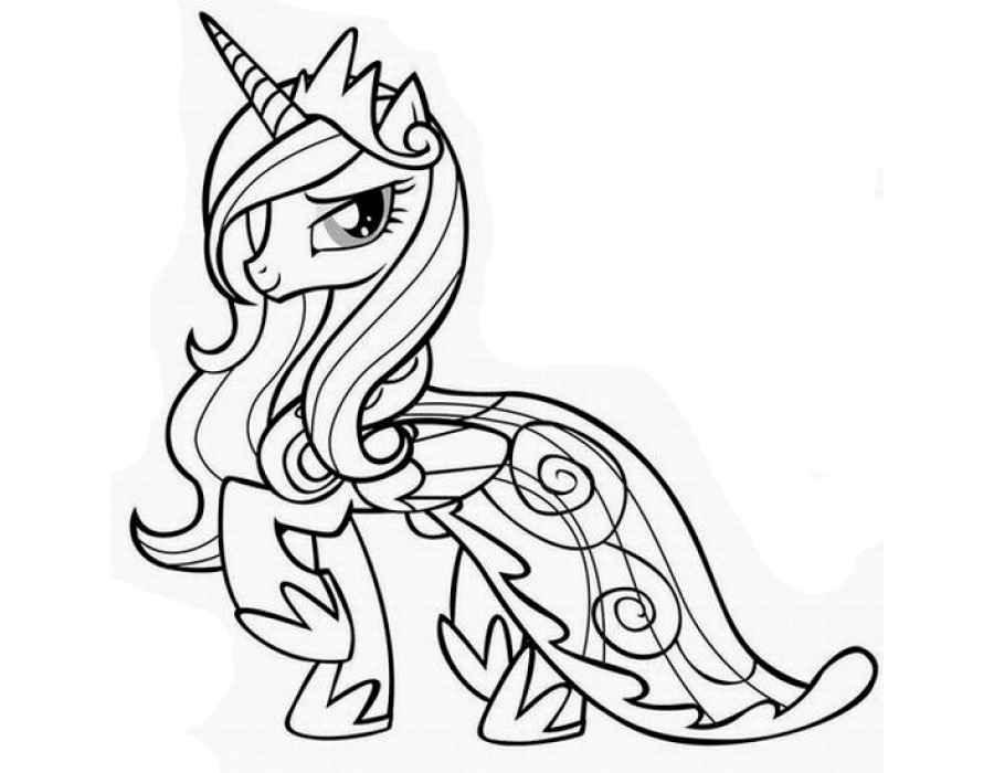 Раскраска Май литл пони принцесса Каденс | Раскраски понивиль