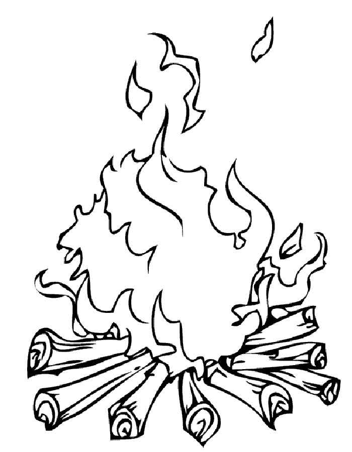 раскраска костер раскраски пожарная машина