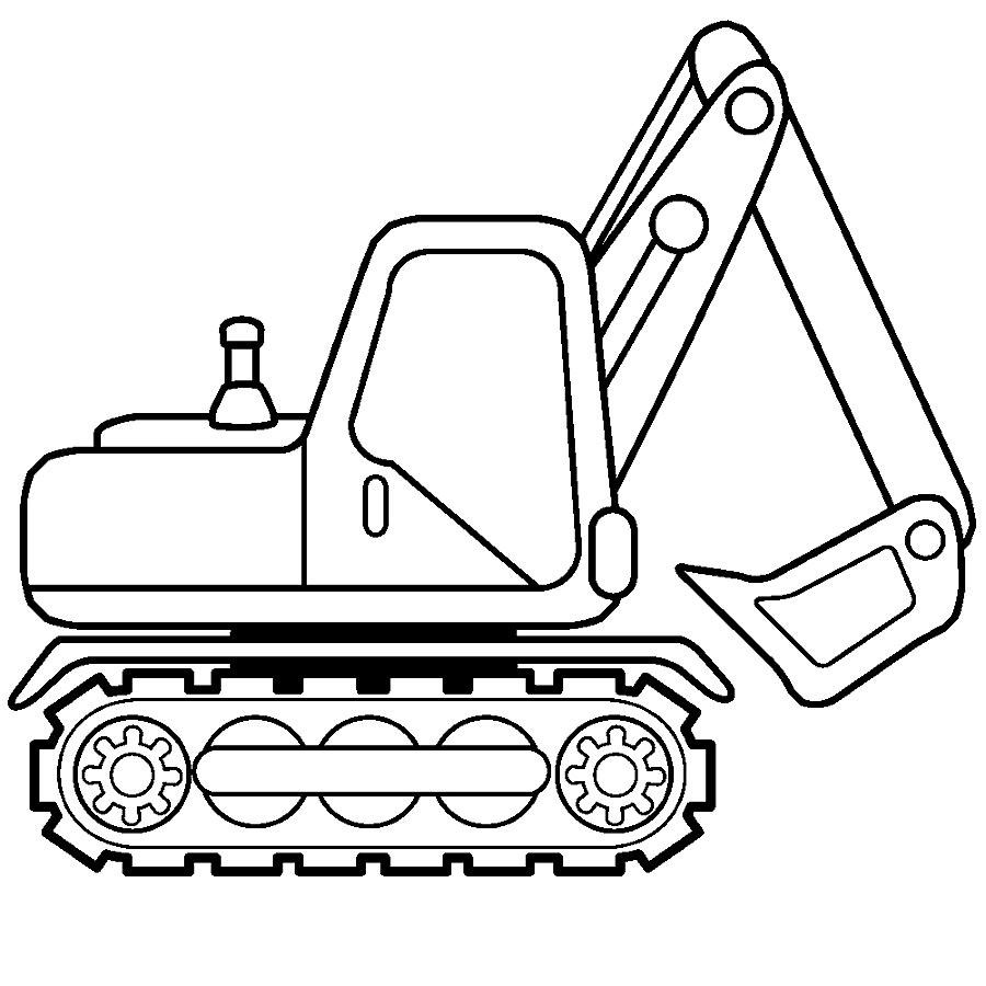Раскраска Экскаватор | Раскраски строительная техника
