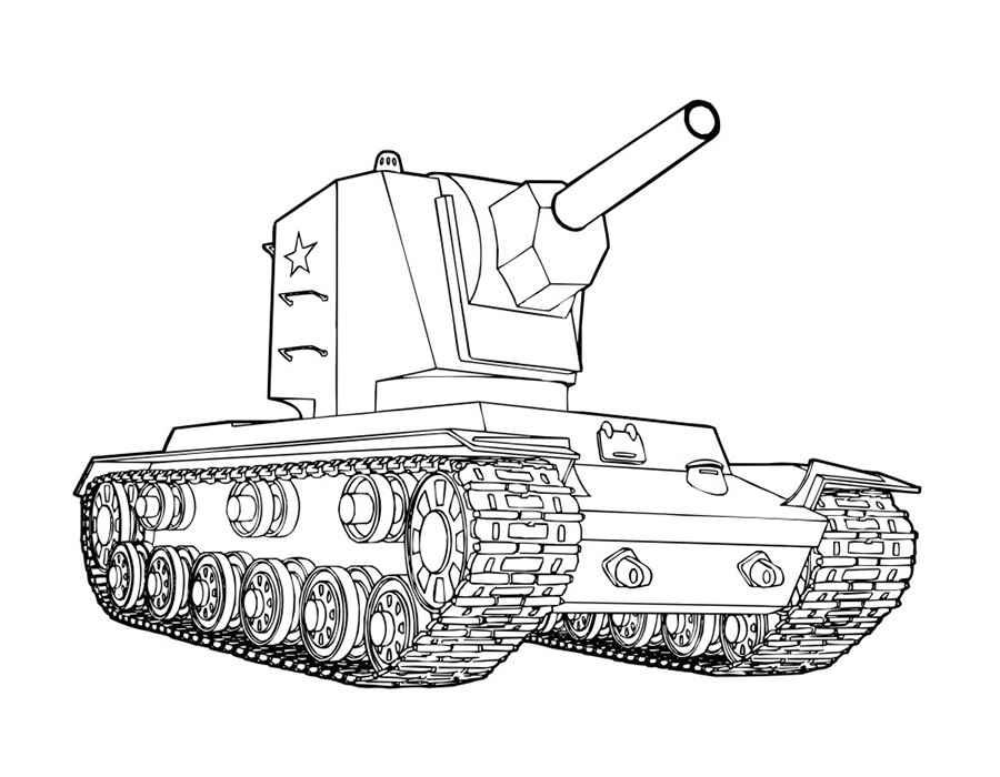 Раскраска картинки танки