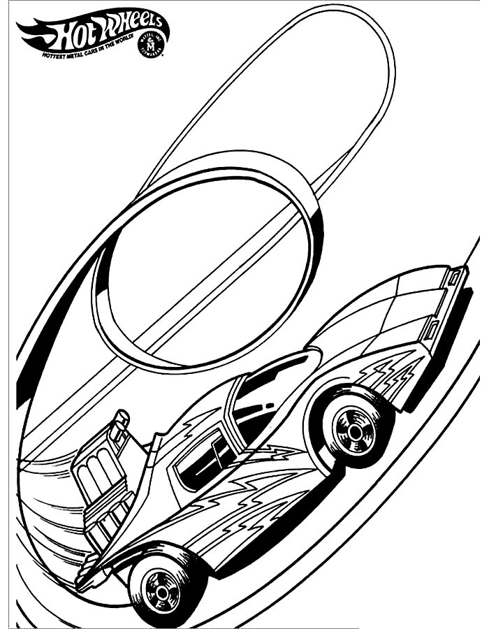 Раскраска Хот Вилс Bugatti   Раскраски хотвилс