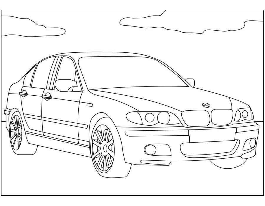 Раскраска BMW X6 | Раскраски машины