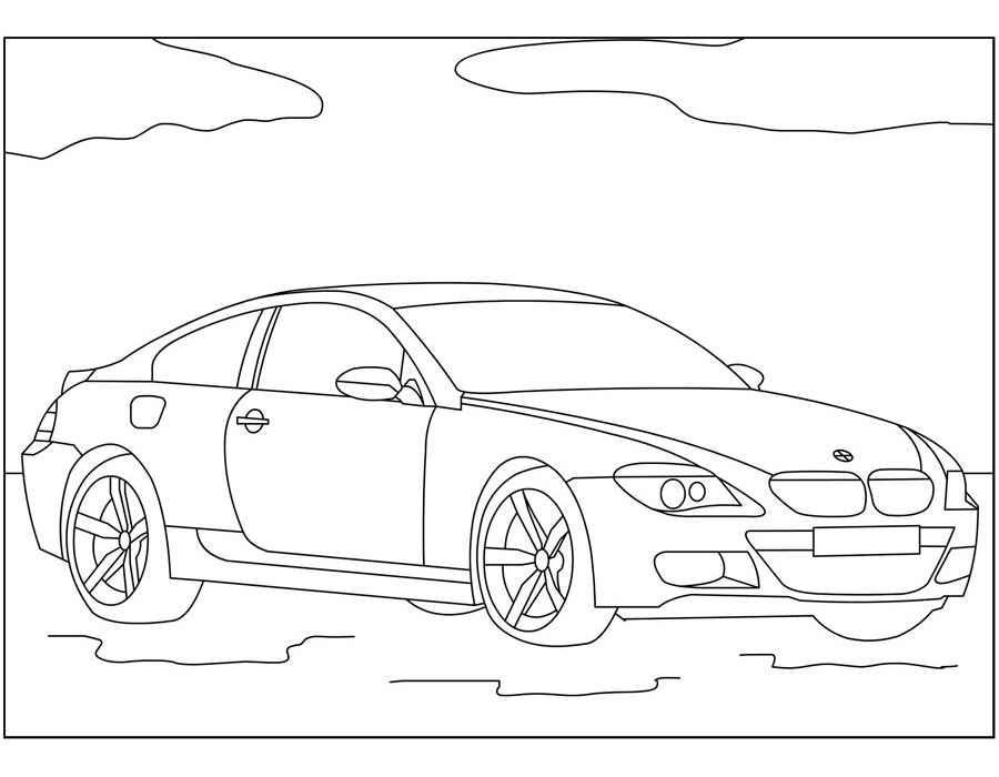 Раскраска BMW 5   Раскраски машины
