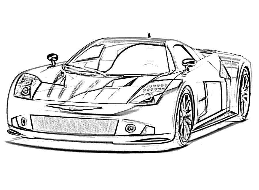 Раскраска Спорт кар | Раскраски машины