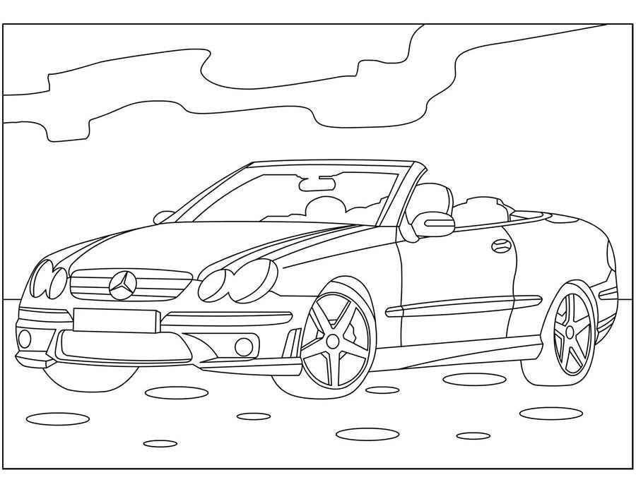 Раскраска Mercedes-Benz CLS-Class 2004- | Раскраски машины