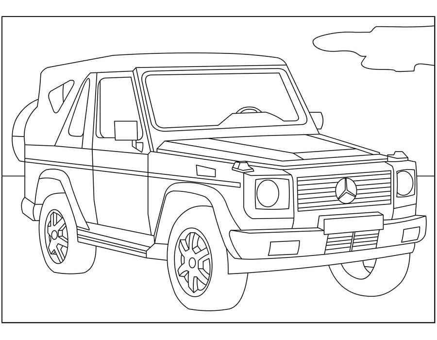 Раскраска Mercedes-Benz R230 | Раскраски машины