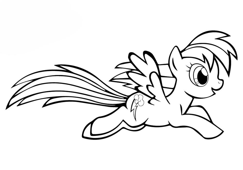раскраски пони а-4 распечатать