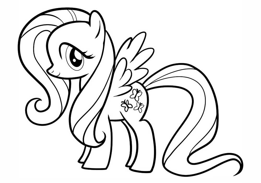 Распечатать раскраски пони