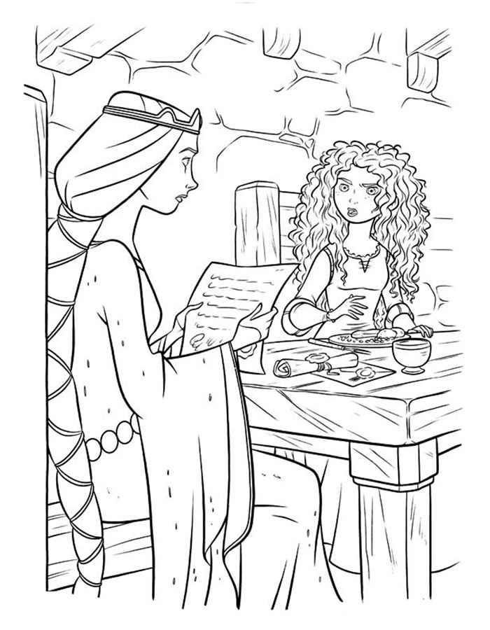 Раскраска Мирида и королева  Раскраски Холодное Сердце