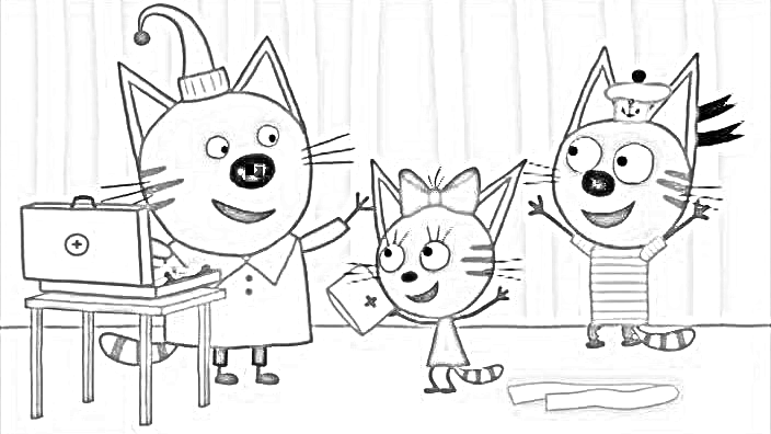 Фото детей и котят 33