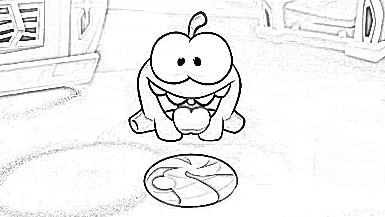 раскраска ам ням и конфета раскраски ам ням