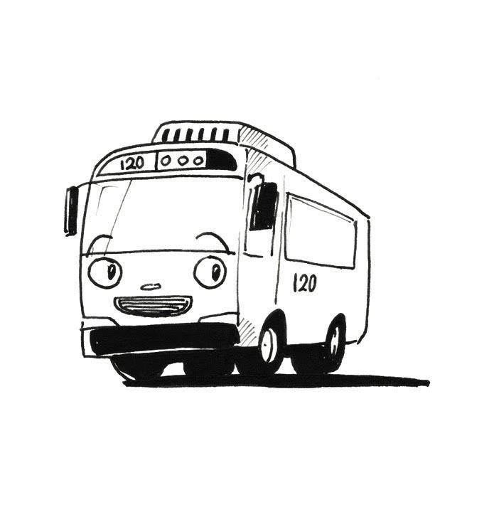 раскраски тайо маленький автобус скачать