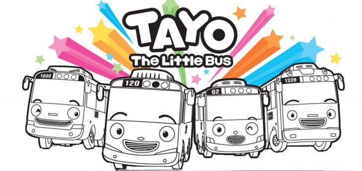 раскраски тайо маленький автобус распечатать бесплатно для детей