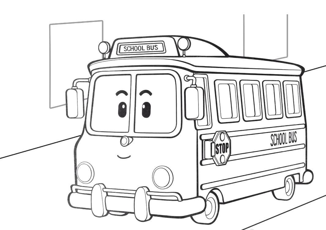 Раскраски из мультфильма Тайо маленький автобус ...