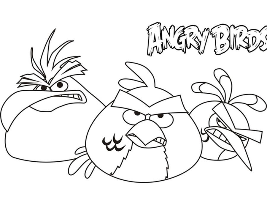 Раскраски мои злые птички