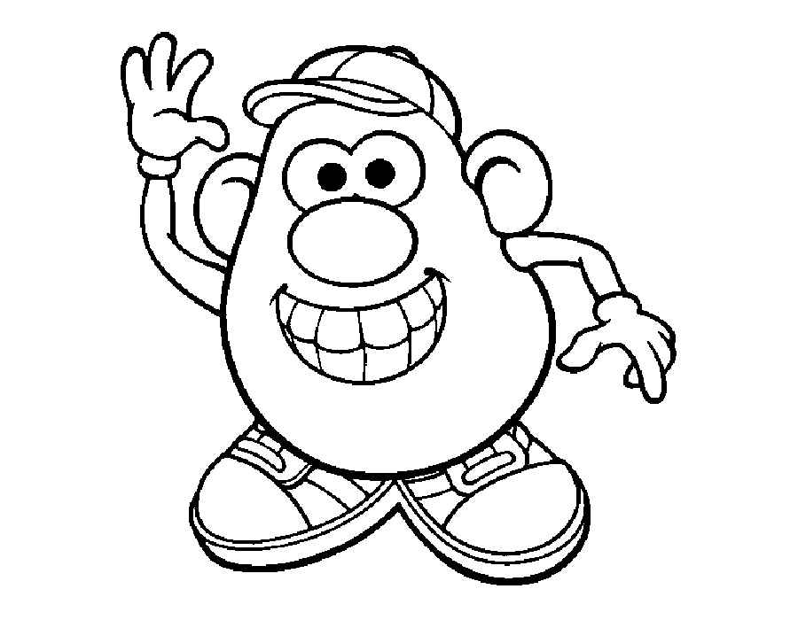 Mr Potato Head Coloring Page Free Printable Coloring Pages - 750×1000