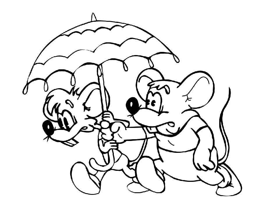 раскраска мыши и зонтик раскраски кот леопольд