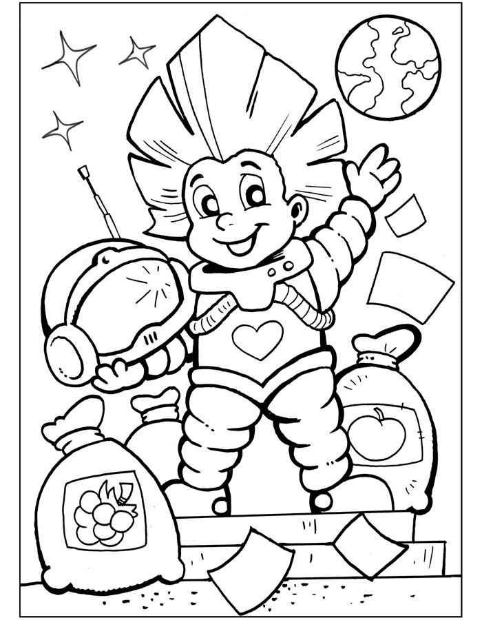 Раскраска Незнайка для детей распечатать бесплатно   900x700