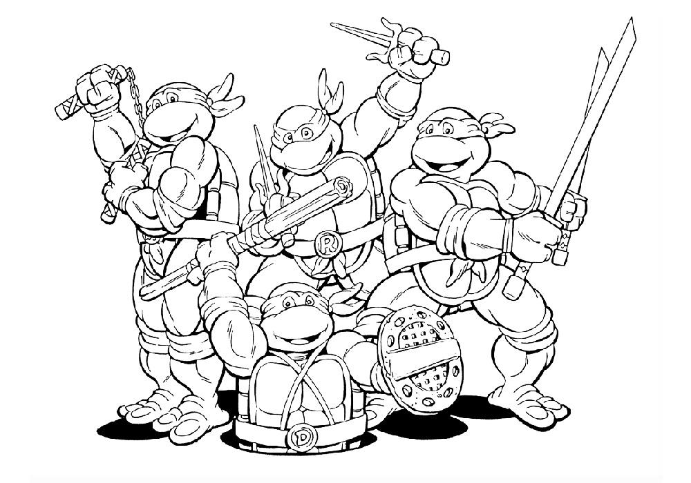 Раскраска Ниндзя-черепашки и люк | Раскраски Ниндзя-черепашки