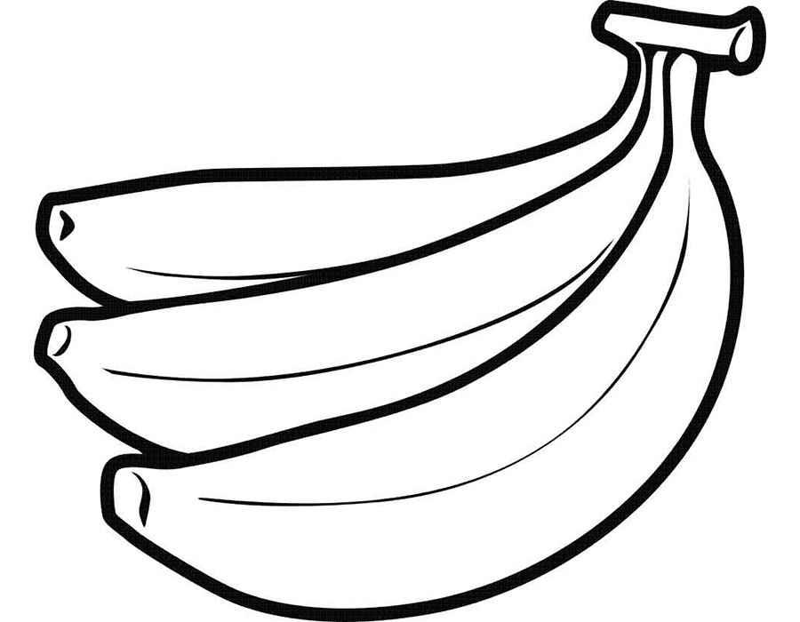 Раскраска Банан | Раскраски Овощи и фрукты