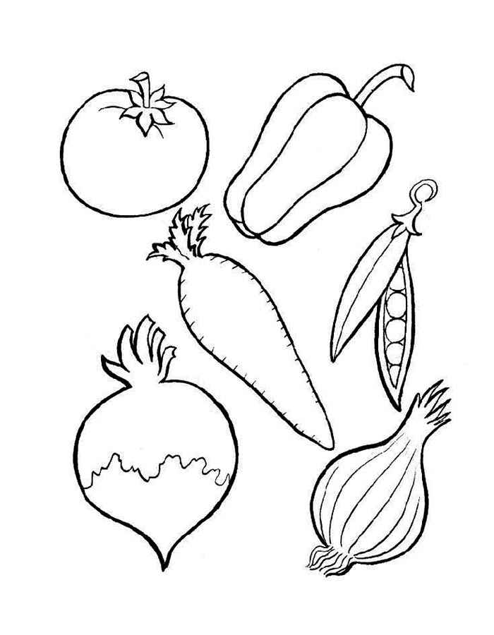 Раскраска Овощи | Раскраски Овощи и фрукты