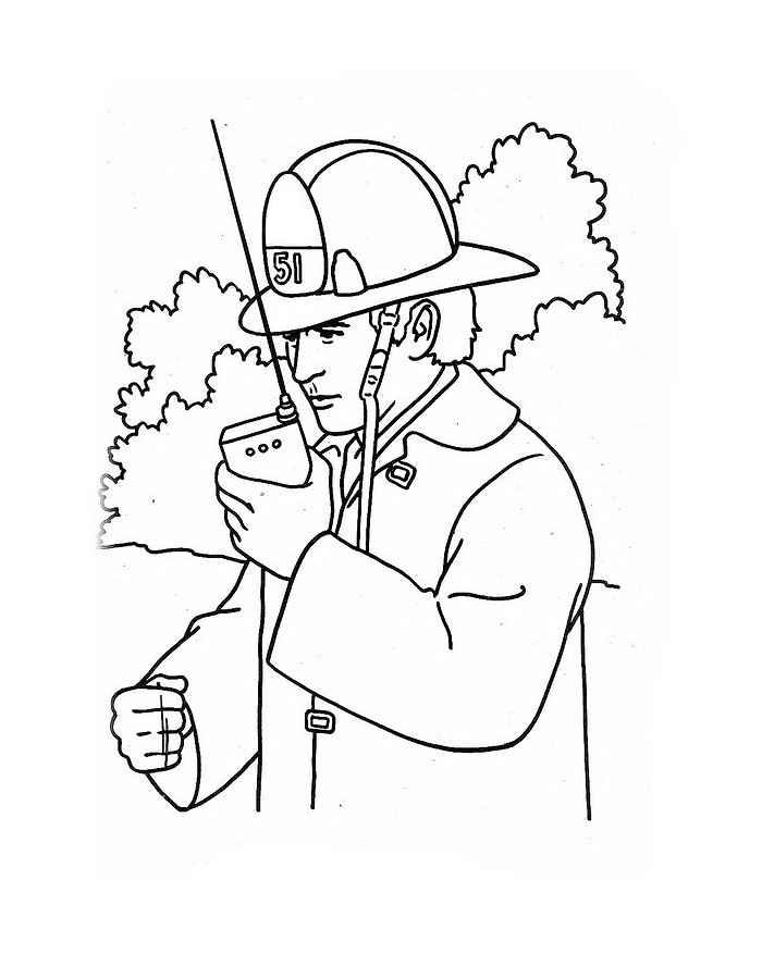 Картинки раскраски что необходимо пожарнику