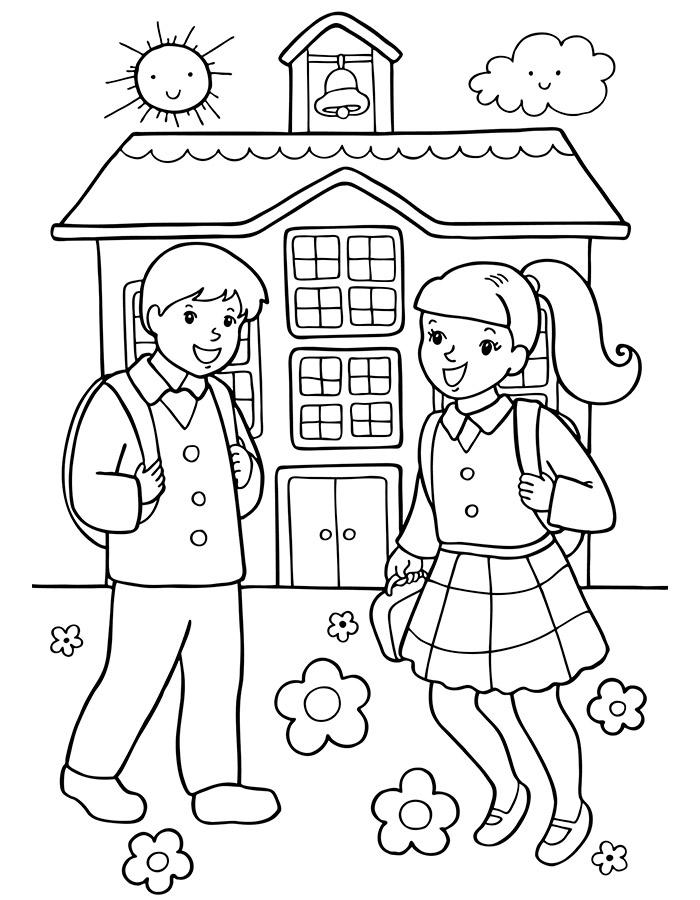 Раскраски о школе для детей, картинка