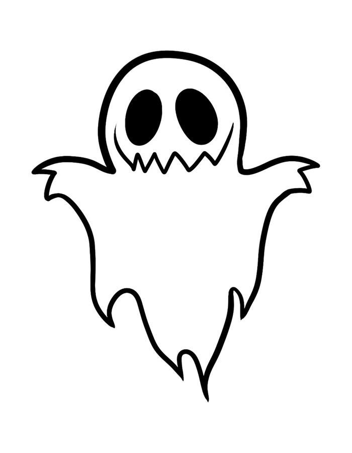 Раскраска Призрак на празднике   Раскраски Хэллоуин