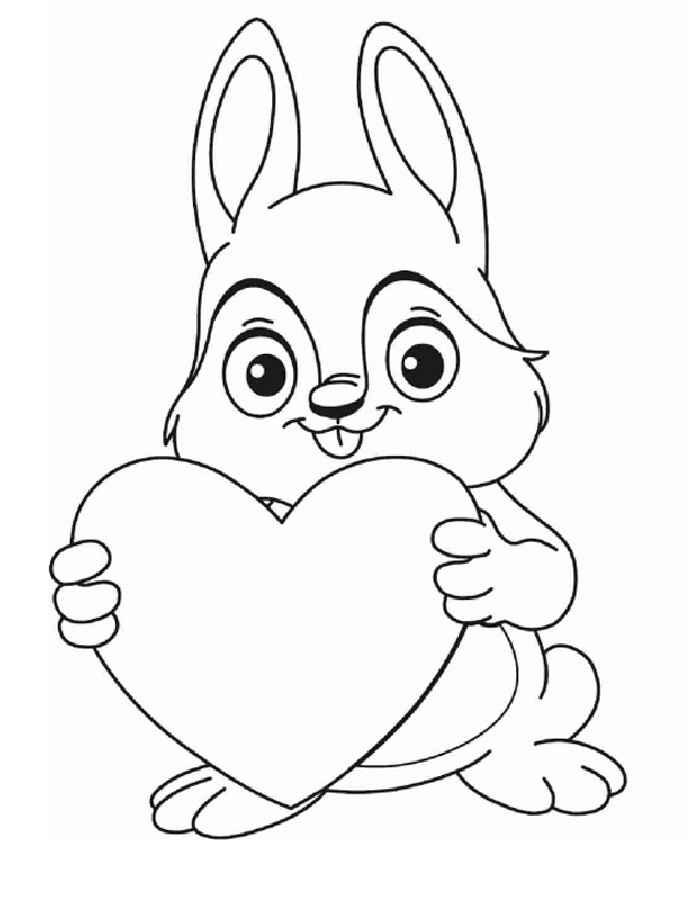 раскраска зайчик в день влюбленных раскраски 14 февраля