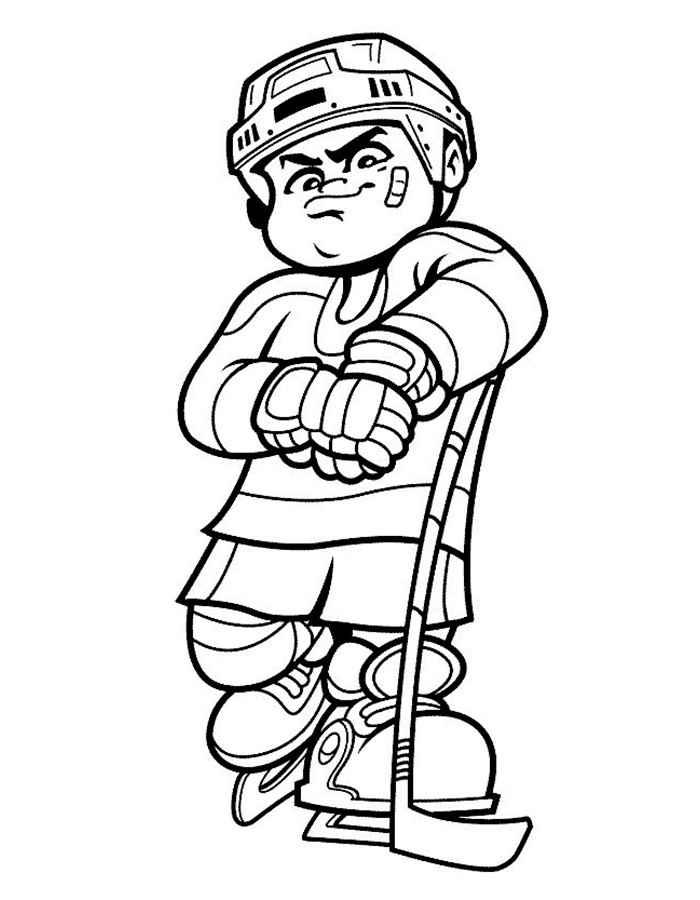 что хоккеист рисунок карандашом обычные