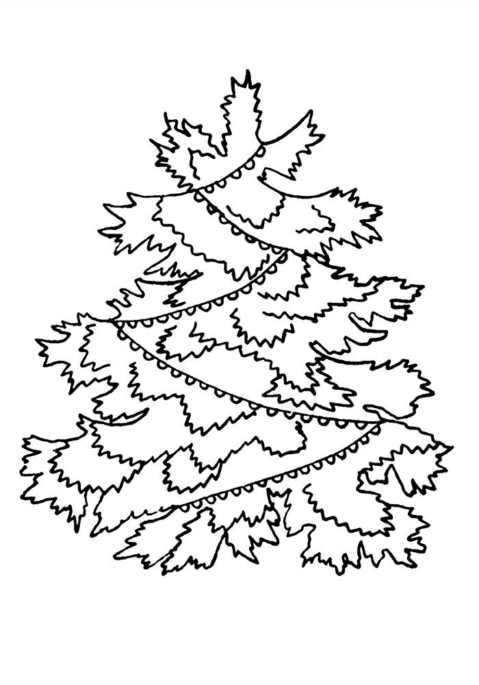 Раскраска Новогодняя елочка | Раскраски Новый год