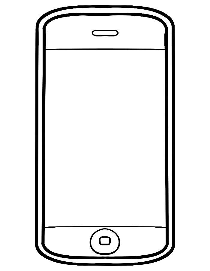 Раскраска смартфон