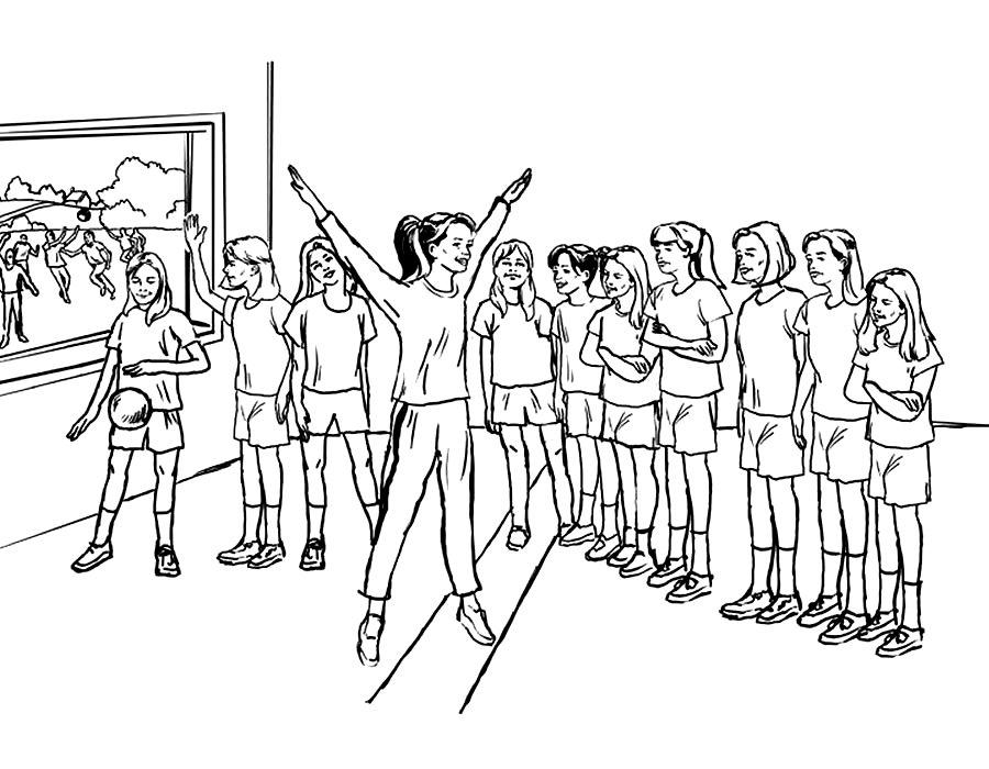 Уроки физкультуры картинки карандашом