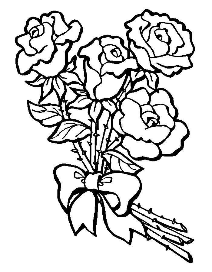 Открытки раскраски с цветами