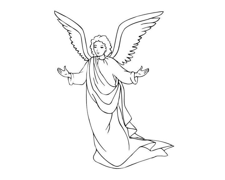 раскраска ангел с крыльями раскраски ангелы