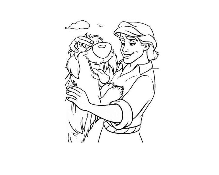 Раскраска Принц и собака | Раскраски принцы