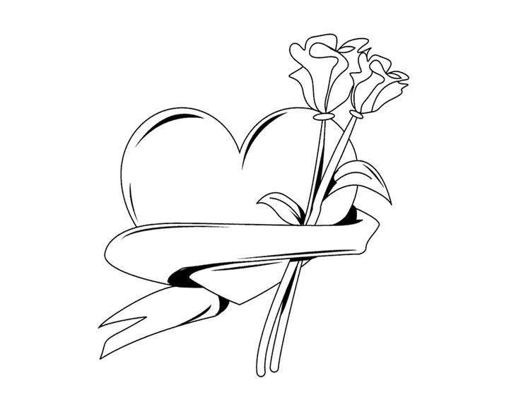раскраска сердце с цветами раскраски сердечки