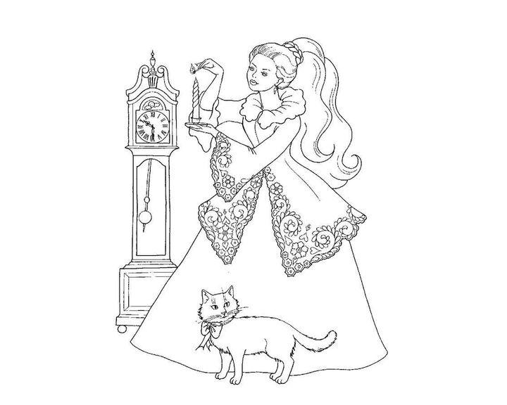 раскраска золушка раскраски принцессы