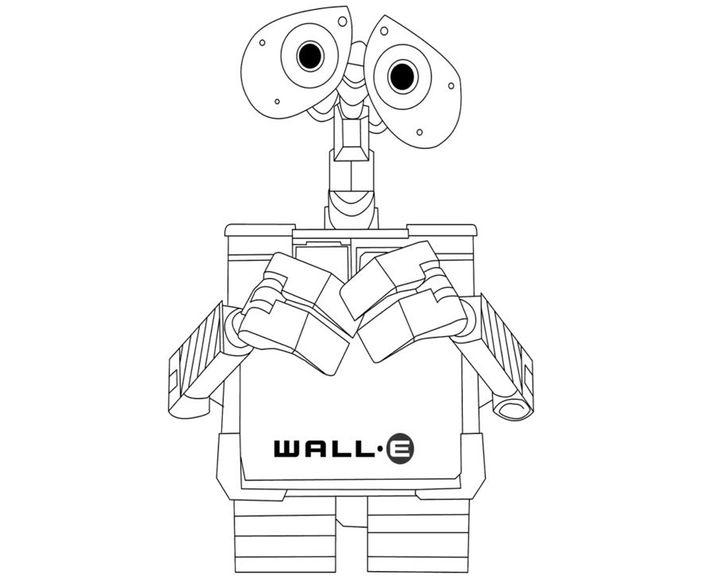 раскраска робот валли раскраски робот