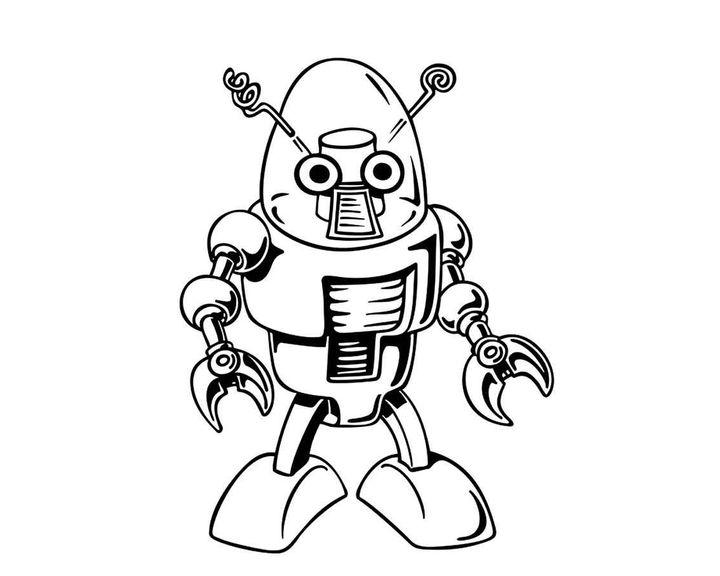 Раскраска Робот калькулятор | Раскраски робот