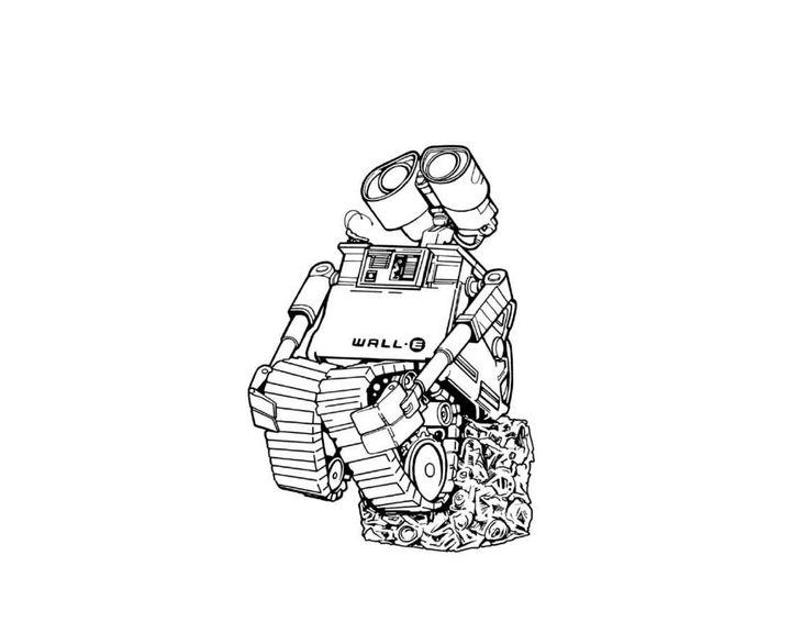 раскраска робот валли сидит раскраски робот