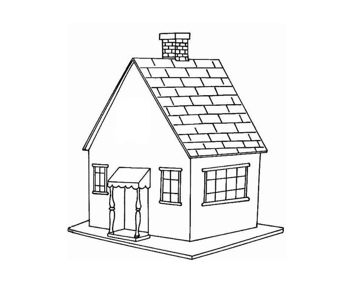Легкие рисунки домика