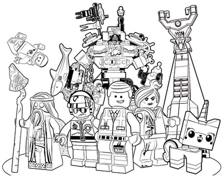 раскраска лего фильм герои раскраски лего