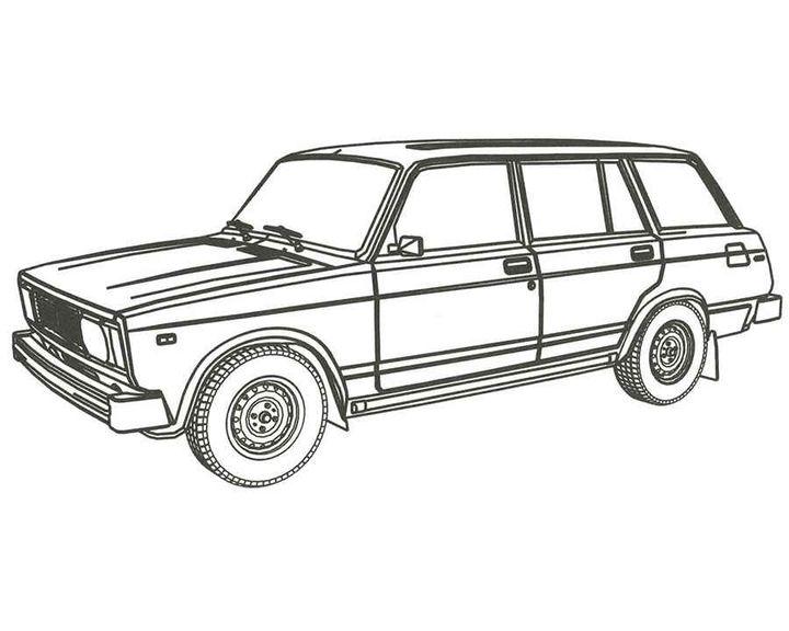 Раскраска Ваз-2107 | Раскраски машины