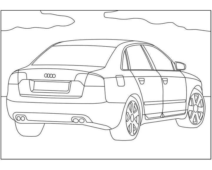 раскраска Audi Allroad раскраски машины