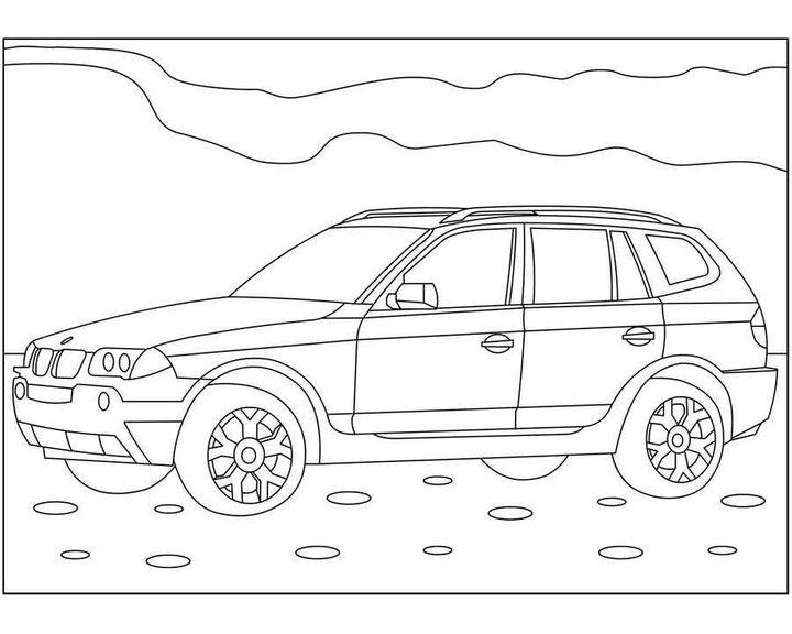 Раскраска BMW M4   Раскраски машины