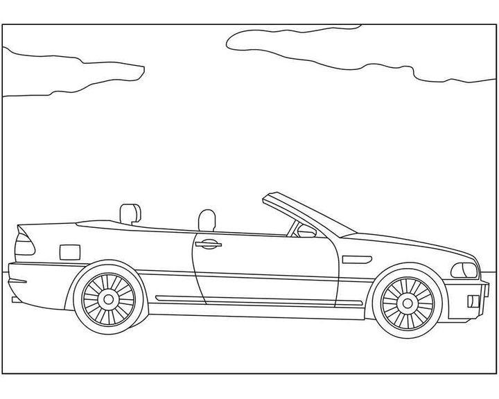 Раскраска BMW 5 Series Gran Turismo   Раскраски машины