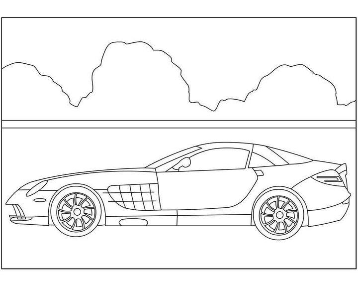 Раскраска Mercedes-Benz C-Class | Раскраски машины